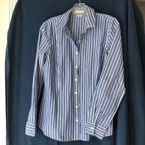 Van Heusen ladies blue striped shirt M